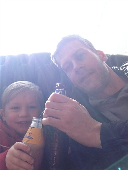 Photo:Mike and Ben. Cheers