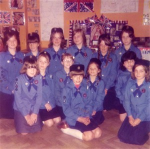 Photo:Guide group in the 1970s