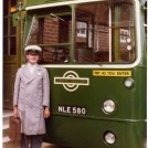"Photo:Me as an ""Inspector Blakey"" look alike. Boss Andrew's OLD LONDON country single decker at SWK store."