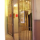 Photo:The entrance to the cell block in the basement of the Town Hall.