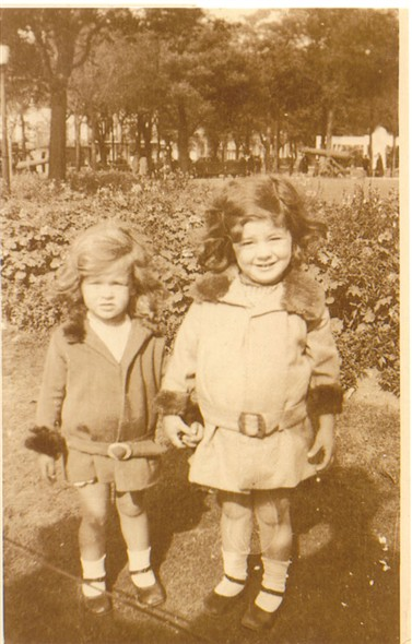 Photo:Me and my sister, Sylvia Bligh, in Steine Gardens, c1930