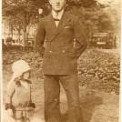 Photo:Me with my father Charles Frederick Bligh, Steine Gardens c1930