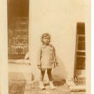 Photo:Me taken in backyard of grandparents' house at 25 Queens Gardens c1931.