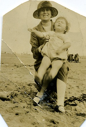 Photo:Me with Grandma (Maud) in 1928
