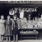 Photo:Our shop (1 Sydney Street) during the 2nd World War. ( ?, Mum, Lorna).