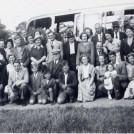 Photo:Greengrocers Federation outing (1940's) - Dad, far right - me, centre right, front row.