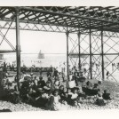Photo:Beach, showing the construction of Palace Pier, and Chain Pier in background