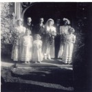 Photo:Me as bridesmaid for cousin Ron (Lillywhite), and Margaret. (1949?)                              llywhite