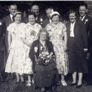 Photo:Granny Lillywhite and her 'Gang of Ten',  (children - Charlie, Bob, Fay, Pat, Joe, Jack, Edie, Rose, Len and Jim. 1950's.