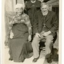 Photo:Dad's Grandparents - Thomas and Betsy (Clark) Speed with their daughter Annie Ayling, (my godmother) at 28 Grove Street Brighton 1920's.