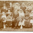 Photo:Dad's cousin - Dolly Ayling's wedding to Bill Maynard  (1920's).