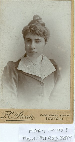 Photo:Alice Mary Indcox married J A Body New York Lived in Manitoba then returned to Brighton