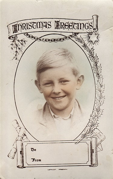 Photo:Christmas photo of charles coverdale as a boy at the Senior Girls School in Pelham Street