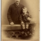 Photo:Edward Todd, 1842, with grandson, Thomas Edward Burtenshaw, 1891