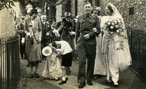 Photo:Frederick and Kathleen Langridge (nee Stoner), 14 September 1940, St Nicholas Church, Brighton