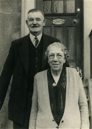 Photo:George and Clara Stoner at the time of their golden wedding aniversary