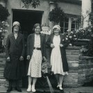 Photo:Gran Lillywhite with daughters Francis Lilian (Fay) and Edith May (Edie) 1930's?  Rotunda - Preston Park, Brighton?