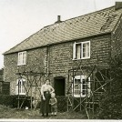 Photo:Gran Lillywhite at 148 Stoughton, West Sussex, with youngest son Charles Frederick (1924?)