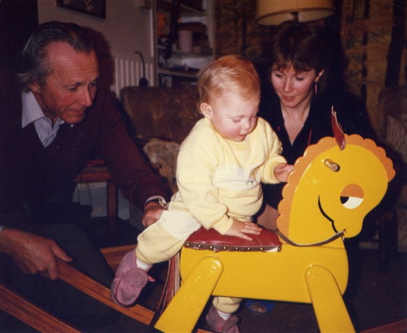 Photo:George Horrobin, Jane Horrobin and Kelly Jago on her 3rd Birthday