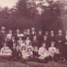 Photo:Thomas Richard Lillywhite's wedding to Mary Elizabeth Tomlinson - Misterton Methodist Church, 13 April 1903.