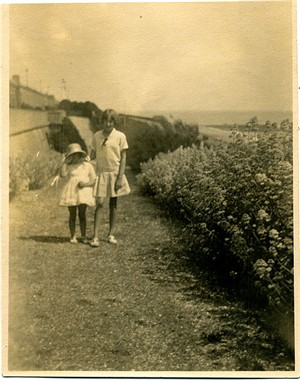 Photo:With my sister Sheila c1928