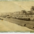 Photo:Bathing machines to the west of the West Pier