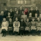 Photo:Mum (first left on front row) at Westwoodside School (now Humberside) 15 May 1921.