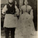 Photo:Thomas Burtenshaw, 10/9/1841 and wife Sarah Burtenshaw nee Barnard, 1839, outside The Wellcome Brothers, Fishmarket Hard, Brighton, 1867