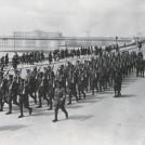 Photo:Granddad  (RSM Lillywhite) marching his recruits (!st World War?) Marine Parade, Palace Pier, Brighton.