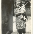 Photo:My paternal grandmother, Teresa, and me in the backyard of 94 Coleman Street. Circa 1940.