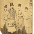 Photo:The American family that took the above photos during their stay in Brighton. The girl on the far right was their English maid and probably a local girl.